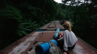Traveling by freight trains in Brazil