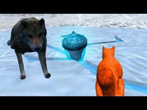 СИМУЛЯТОР БЕЛКИ #4 ЗИМА НАСТУПИЛА ОХОТИТСЯ ВОЛК в Squirrel Simulator
