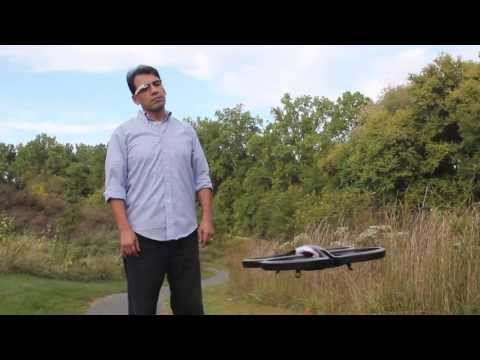Google Glass ARDrone Commander Demo