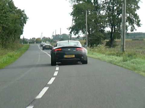 Aston Martin V8 Vantage drives through the Loire valley