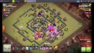 Clash Of Clans | TH9.5 vs TH9 QUEEN WALK LALOON Solo Regina lvl 20