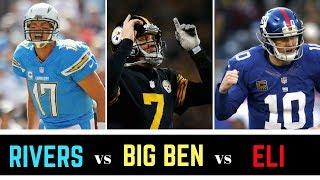 Ben Roethlisberger vs Philip Rivers vs Eli Manning Debate | Best QB of the 2004 NFL Draft?
