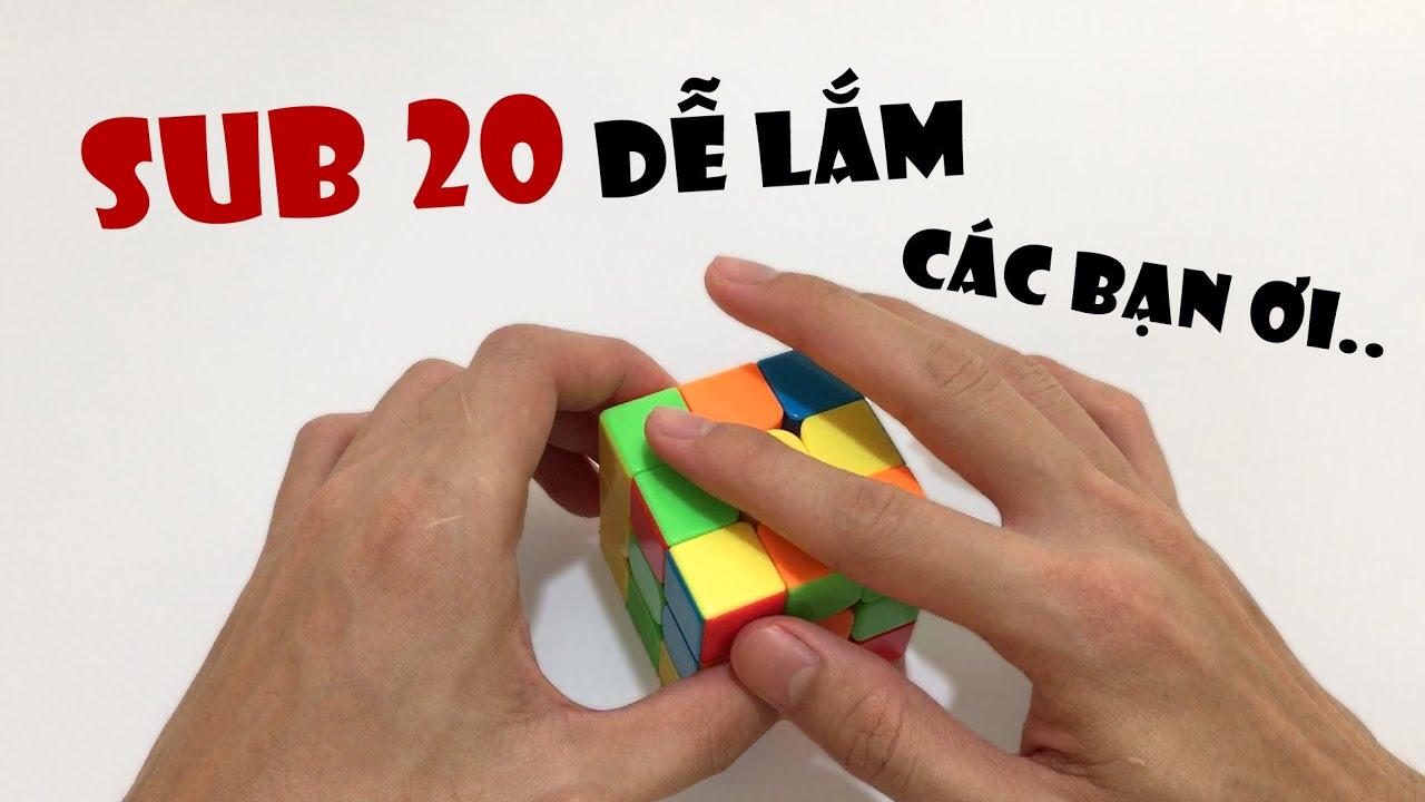 Lý do bạn chưa SUB 20 là đây...   Rubik Ocean