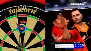 PS3 pdc world championship darts pro tour gameplay part 1 (HD QUALITY TEST)