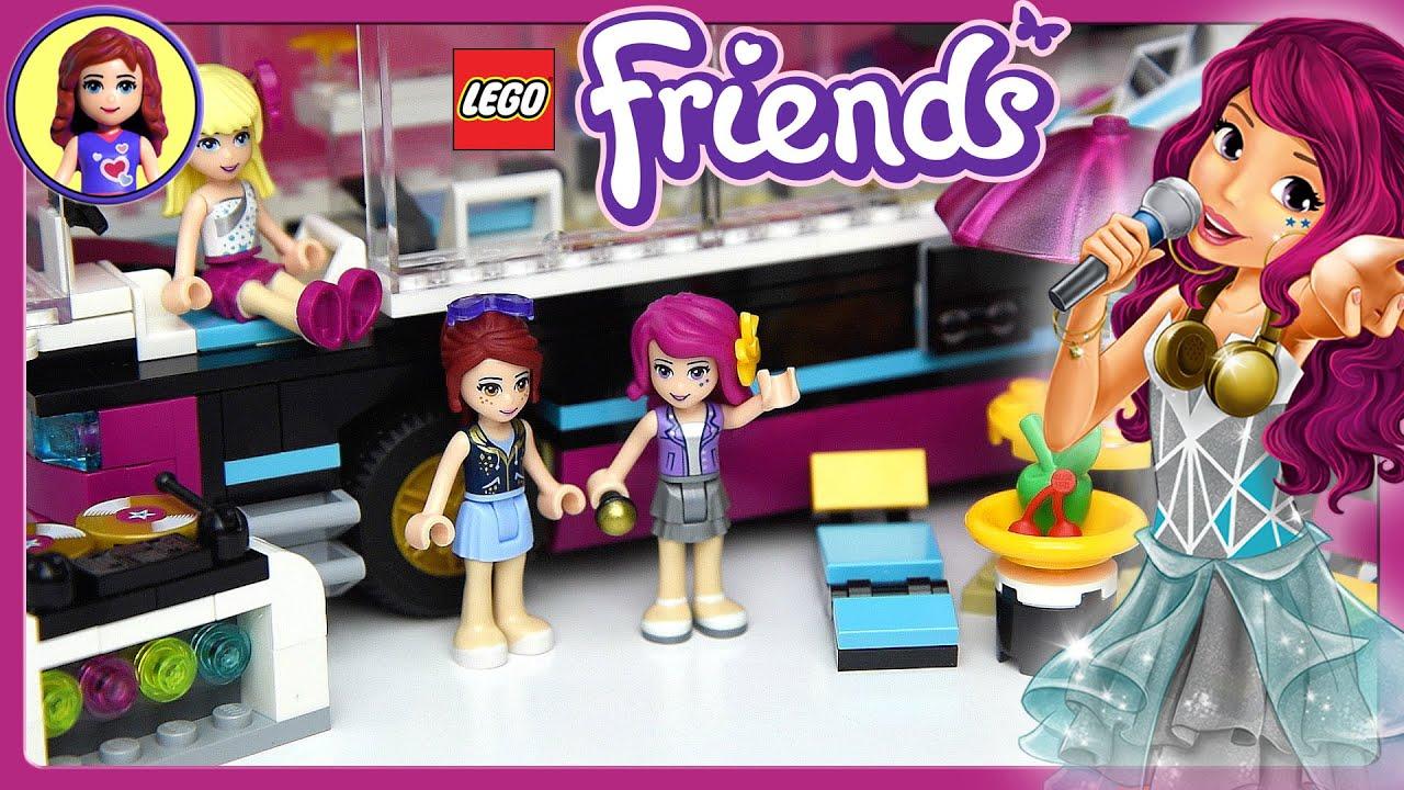 Lego friends pop star tour bus set build review and silly - Lego friends casa de livi ...