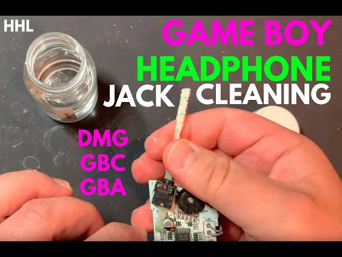 Quick tip: Headphone jack cleaning on Game Boys (DMG, Advance, Color, etc)