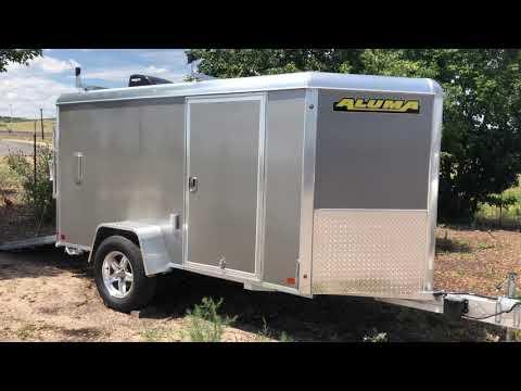 Super Cool 5x10 Aluma Aluminum Cargo Trailer with Power!