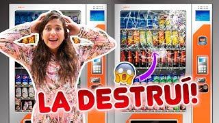 24 HORAS COMIENDO EN MÁQUINAS EXPENDEDORAS RARAS | Leyla Star 💫