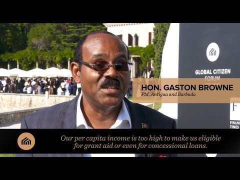 Hon. Gaston Browne interview: Global Citizen Forum 2017