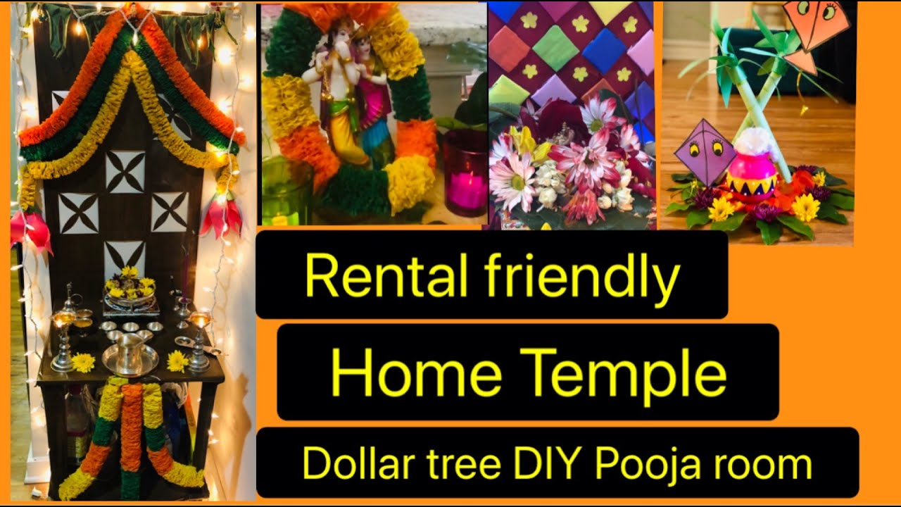 Home Temple|DIY Pooja room Decoration ideas|Puja Backdrops|Telugu vlogs USA|Life In Little Things