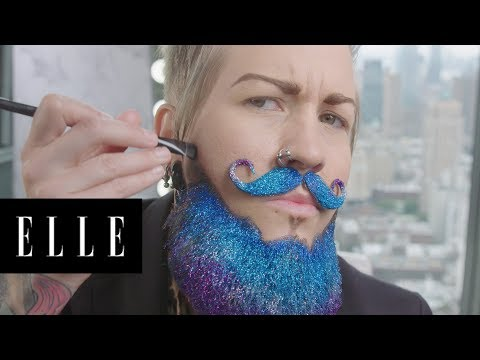 Watch Drag King Spikey Van Dykey's AMAZING Transformation | ELLE