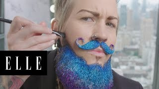Watch Drag King Spikey Van Dykey's AMAZING Transformation | ELLE