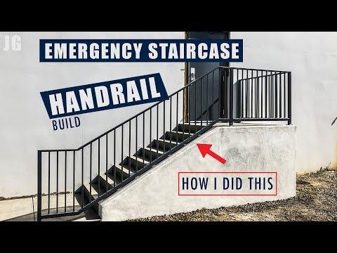 Metal Emergency Staircase Handrail Build | JIMBO'S GARAGE