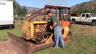 D2 Caterpillar dozer start up with a pony motor