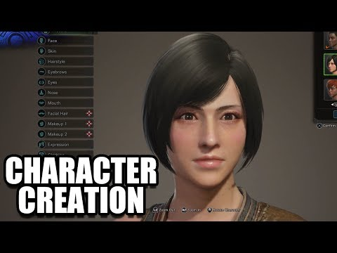 MONSTER HUNTER WORLD - Character Creation / Male and Female Customization