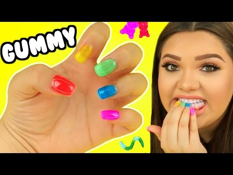 Thumbnail: DIY GUMMY EDIBLE NAILS! Gummy Bears, Gummy worms, & More!