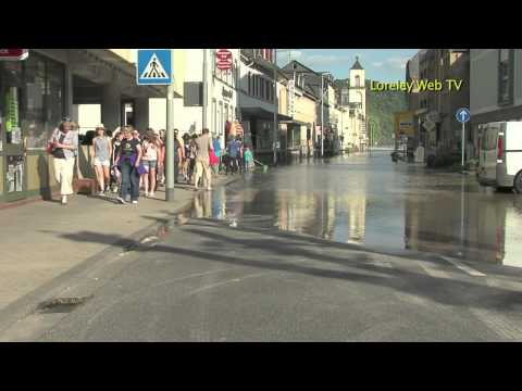 1. Loreley Web TV in HD - Rheinhochwasser - St. Goarshausen - St- Goar 2013