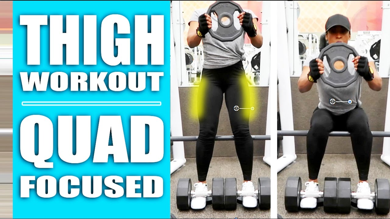 Thigh workout best quad focused exercises at the gym