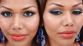 Turquoise & Royal Blue Eyes with Orange Lips | Urban Decay Electric Palette Thumbnail
