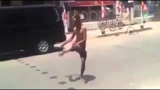 homeless man dances like michael jackson