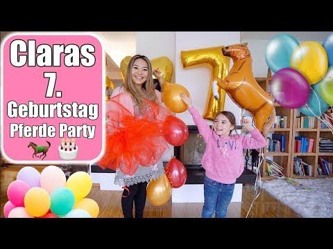 Claras 7. Geburtstag 🎂 Pferde Geburtstags Party | Torte machen & dekorieren | Mamiseelen
