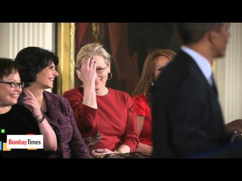 President Obama Says He Loves Meryl Streep & Michelle Obama Knows All About It - TOI
