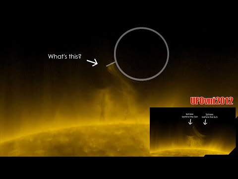 Today BIZARRE UFO? what is it? 2 Massive Spheres Suck The Flames of Our Sun