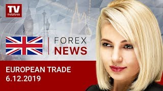 InstaForex tv news: 06.12.2019: Euro and pound end week with gains (EUR/USD, GBP/USD)