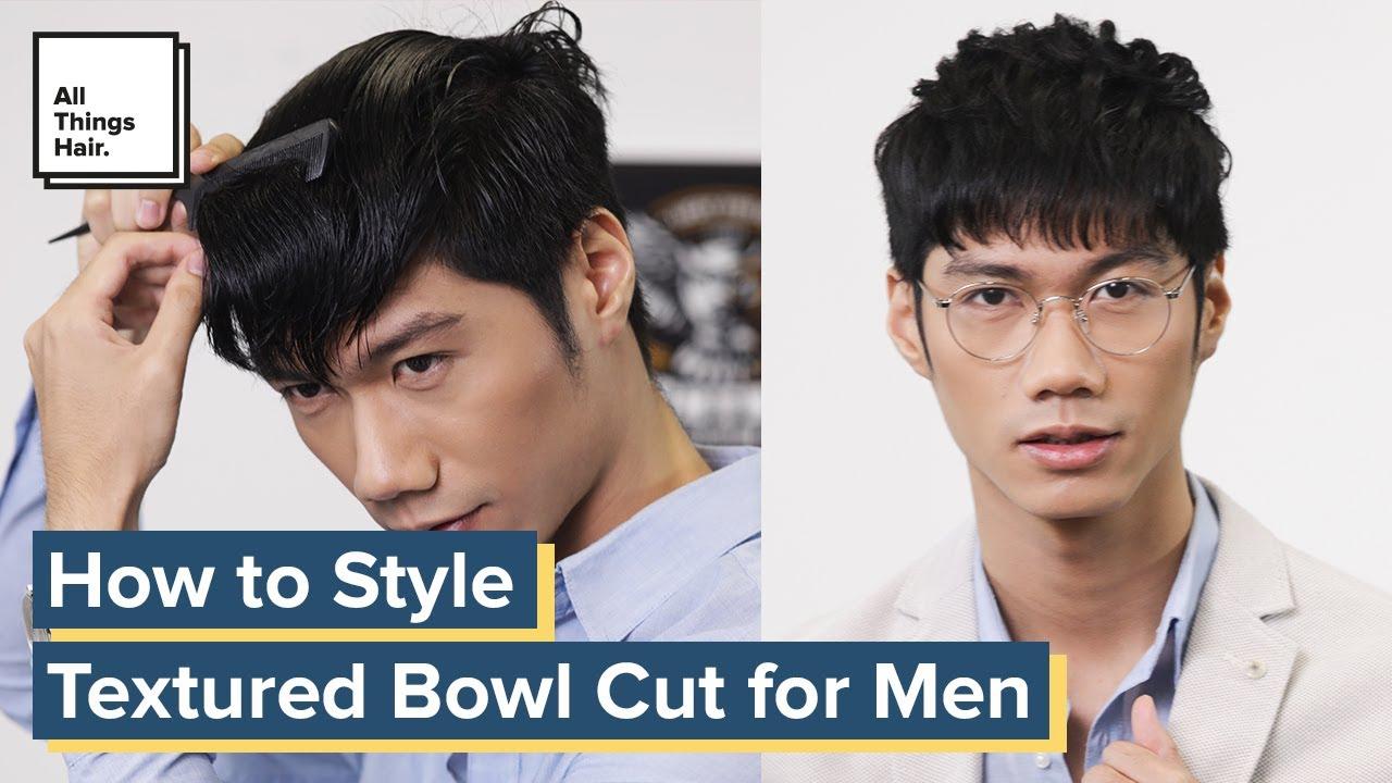 Textured Bowl Cut For Men Korean Hairstyle Tutorial Youtube