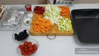 мясо индейки с овощами-запеченные в духовке.