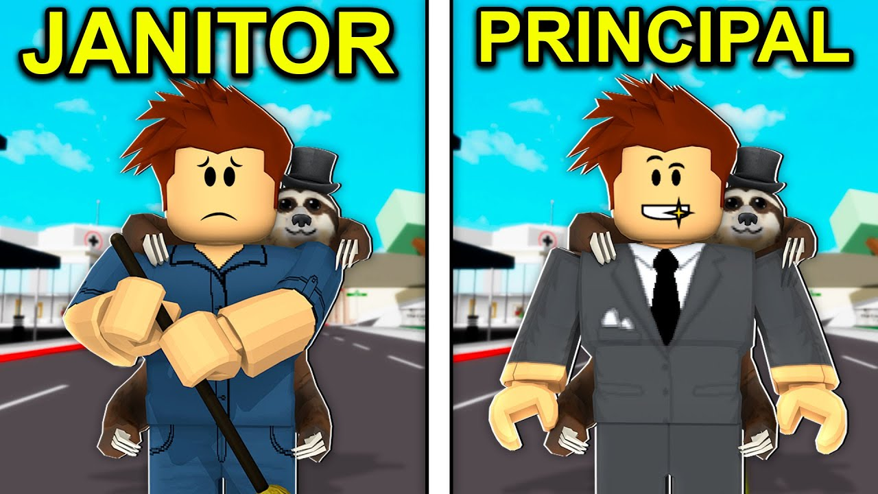 JANITOR To PRINCIPAL In Roblox Brookhaven..