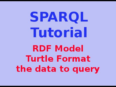 Simple SPARQL Tutorial 2/29: RDF Model - Turtle Format ... the data to query