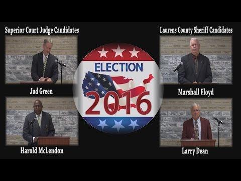 Debate - Superior Court Judge & Sheriff 2016