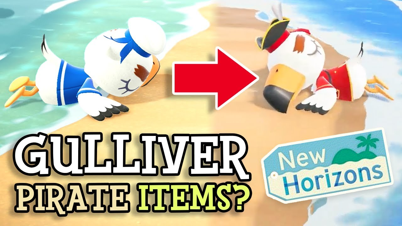 Animal Crossing New Horizons: GULLIVER & PIRATE ITEMS? (Summer Update New Details Revealed)