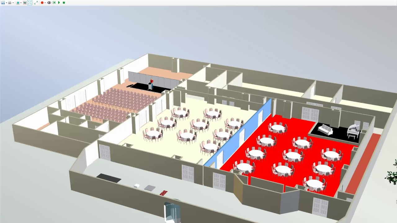 Microsoft visio 3d module event floor plan software Floor plan 3d download
