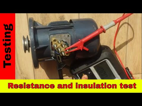 How To Test 3-phase Motor Using MEGGER. Winding Resistance And Insulation Test.