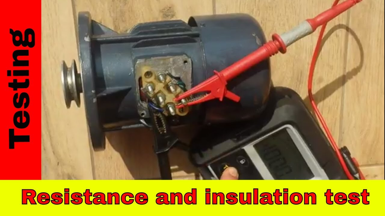 How to test 3-phase motor using MEGGER  Winding resistance and insulation  test