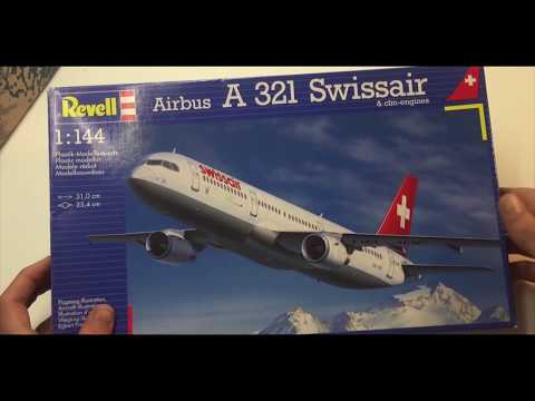 Revell Airbus A321 Swissair unboxing