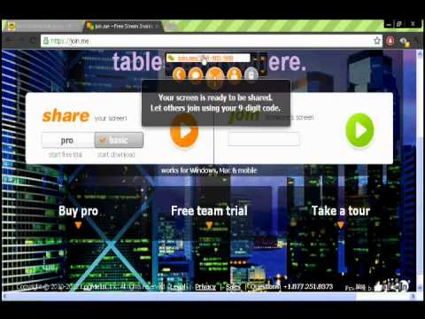 How to Download/Make/Share a Join me