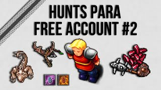 |Tibia| - HUNTS PARA FREE ACCOUNT #2 - DRILLWORM CAVE (PALADINO)