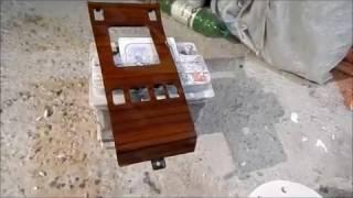 ремонт скола лака на деревянной отделке в авто на примере мерседеса W124