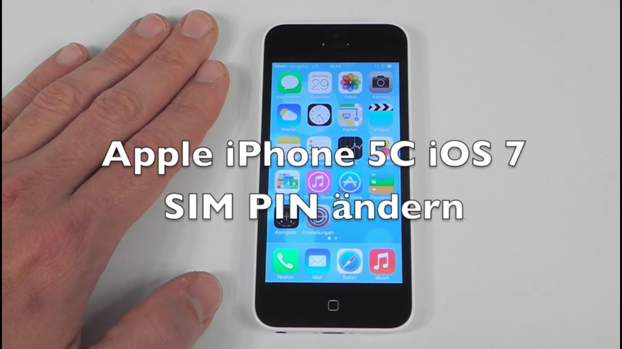 iphone sim pin iphone 5 5c 5s ios 7 anleitung sim pin 228 ndern 12318