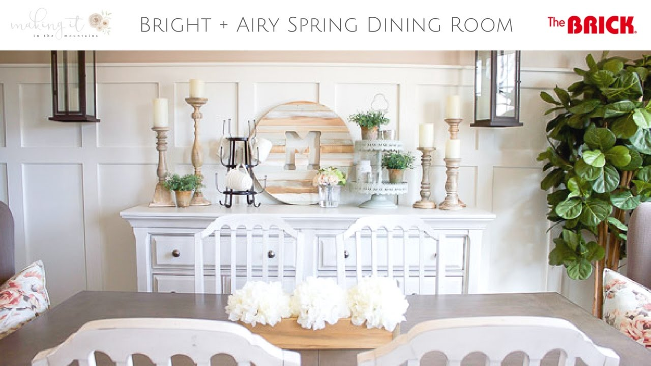 Light Bright Farmhouse Style Spring Dining Room Tour