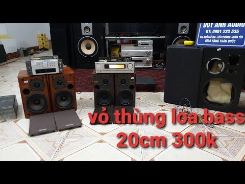 Video báo giá Vỏ thùng loa bass 20 300k amply Denon loa onkyo hàng bãi giá mềm LH 0961222535