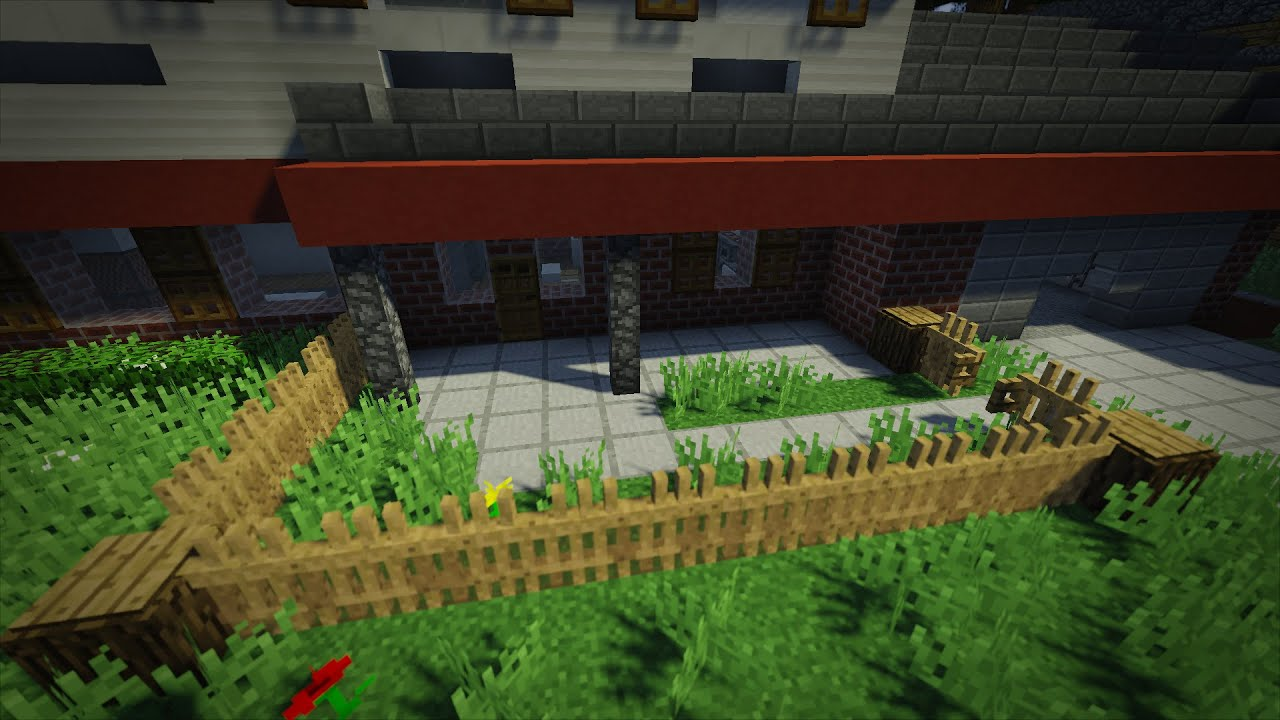 fence minecraft. 【Minecraft Detail: Functional Picket Fence!】 Fence Minecraft