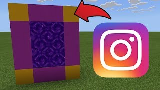 How To Make a Portal to the Instagram Dimension in MCPE (Minecraft PE)