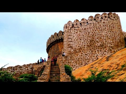 Bhongir Fort, (Bhuvanagiri Kota), Nalgonda, Telangana, India HD Video