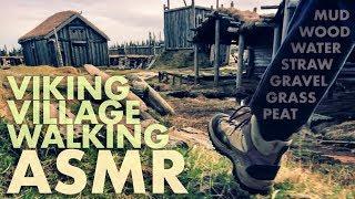 [ASMR] Relaxing WALKING on Mud / Wood / Water / Grass / Gravel / Straw - ICELAND NATURE