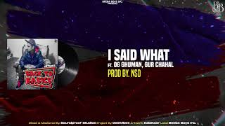 Sultaan - Mein Kiha Ki [ I Said What ] ft. OG Ghuman & GurChahal (Official Audio) BACK TO THE BASICS