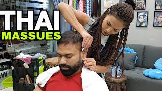 ASMR head massage by Thai Girl at Pattaya Thailand, Ear, Neck, Forehead massage (READ DESCRIPTION)